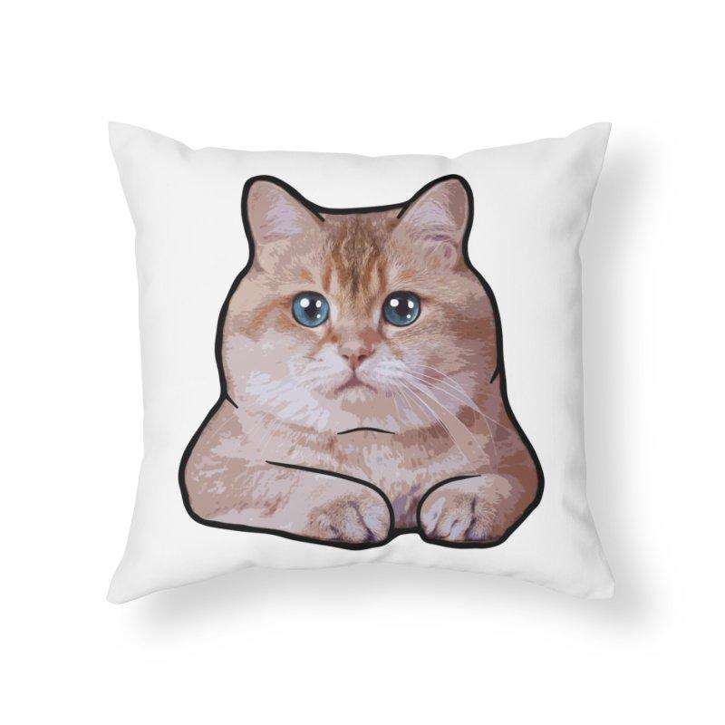 Hosico Cat Home Throw Pillow by Hosico's Shop
