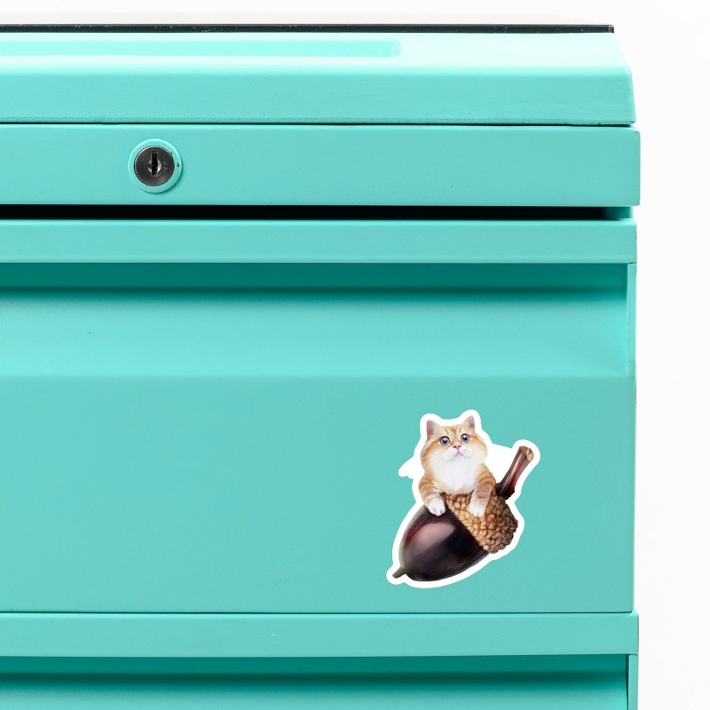 Hosico and acorn Accessories Magnet by Hosico's Shop