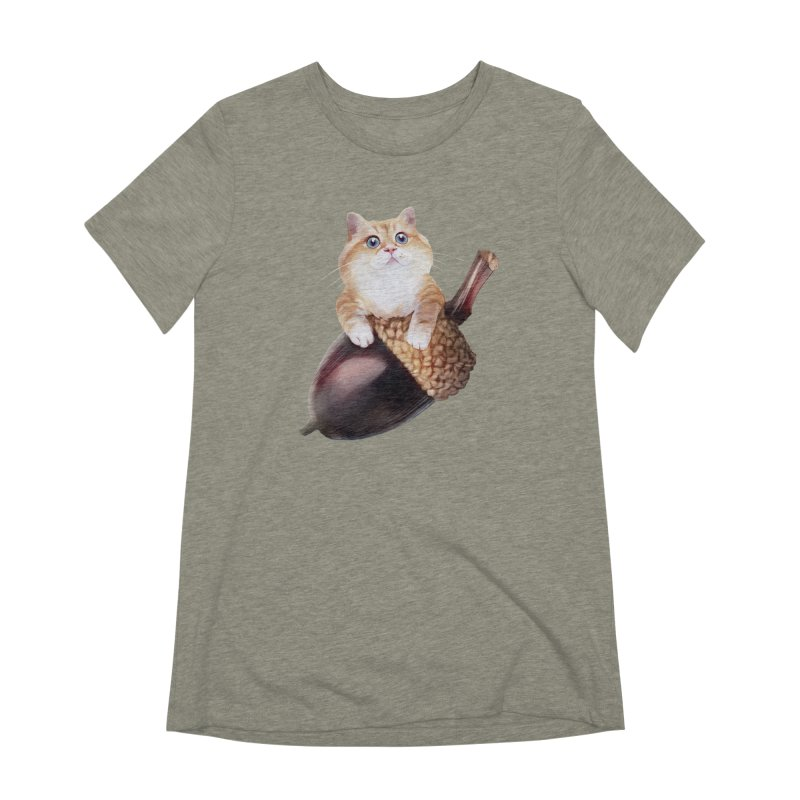 Hosico and acorn Women's Extra Soft T-Shirt by Hosico's Shop