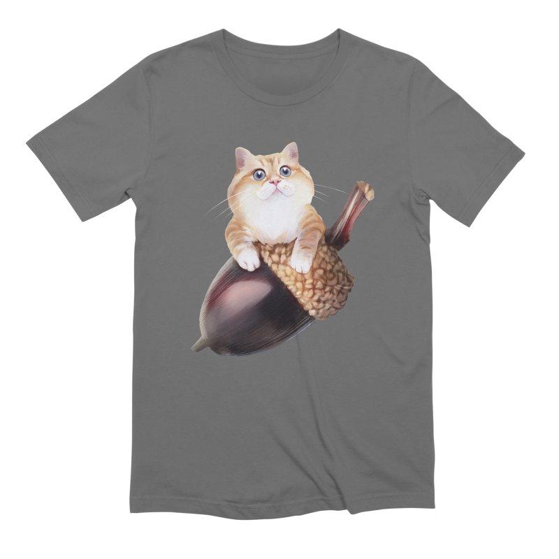 Hosico and acorn Men's Extra Soft T-Shirt by Hosico's Shop