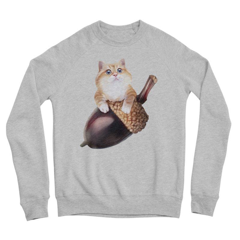 Hosico and acorn Men's Sponge Fleece Sweatshirt by Hosico's Shop