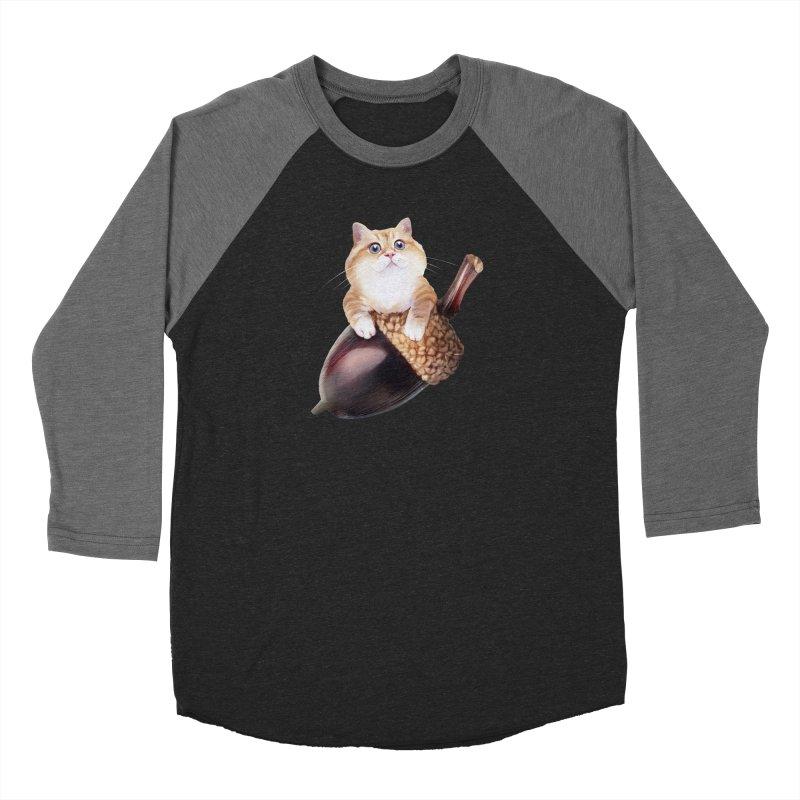Hosico and acorn Men's Baseball Triblend Longsleeve T-Shirt by Hosico's Shop