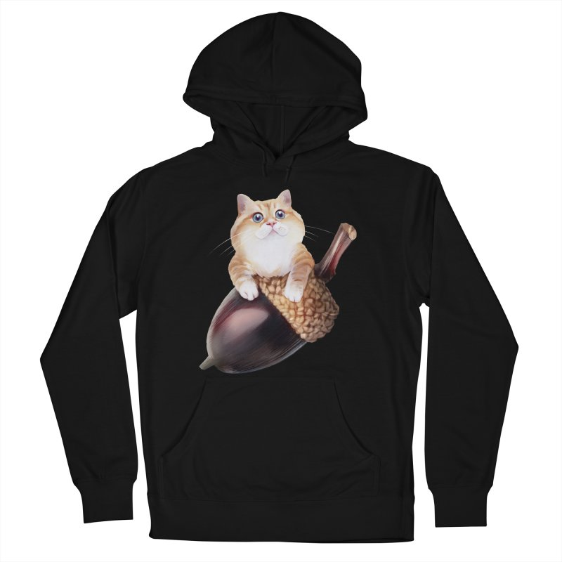 Hosico and acorn Men's French Terry Pullover Hoody by Hosico's Shop