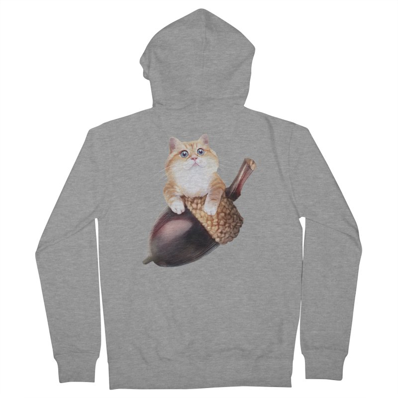 Hosico and acorn Women's French Terry Zip-Up Hoody by Hosico's Shop