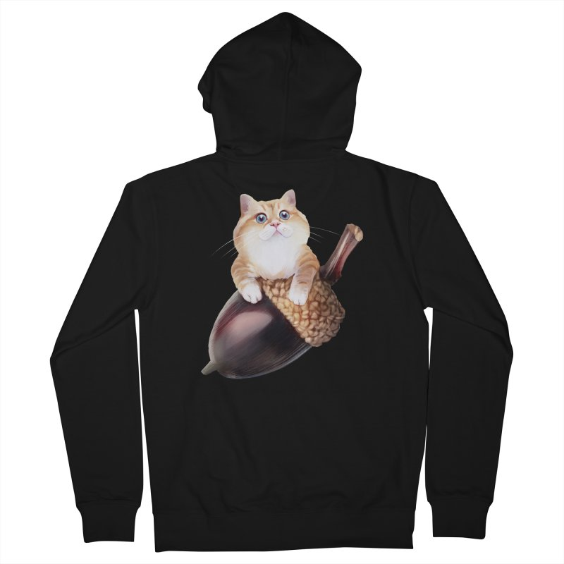 Hosico and acorn Men's French Terry Zip-Up Hoody by Hosico's Shop