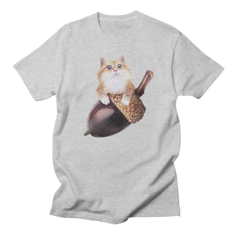 Hosico and acorn Men's Regular T-Shirt by Hosico's Shop