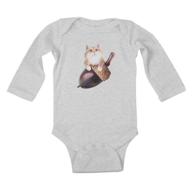 Hosico and acorn Kids Baby Longsleeve Bodysuit by Hosico's Shop