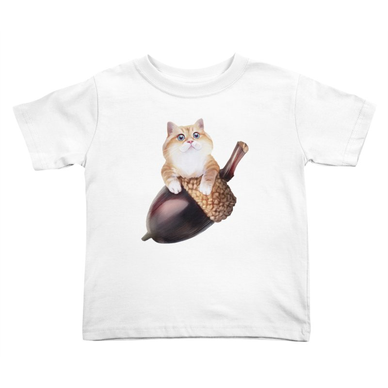 Hosico and acorn Kids Toddler T-Shirt by Hosico's Shop