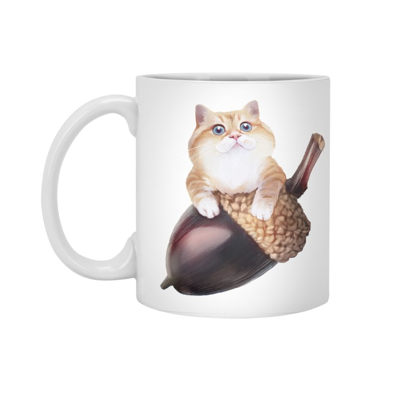 Hosico and acorn Accessories Mug by Hosico's Shop