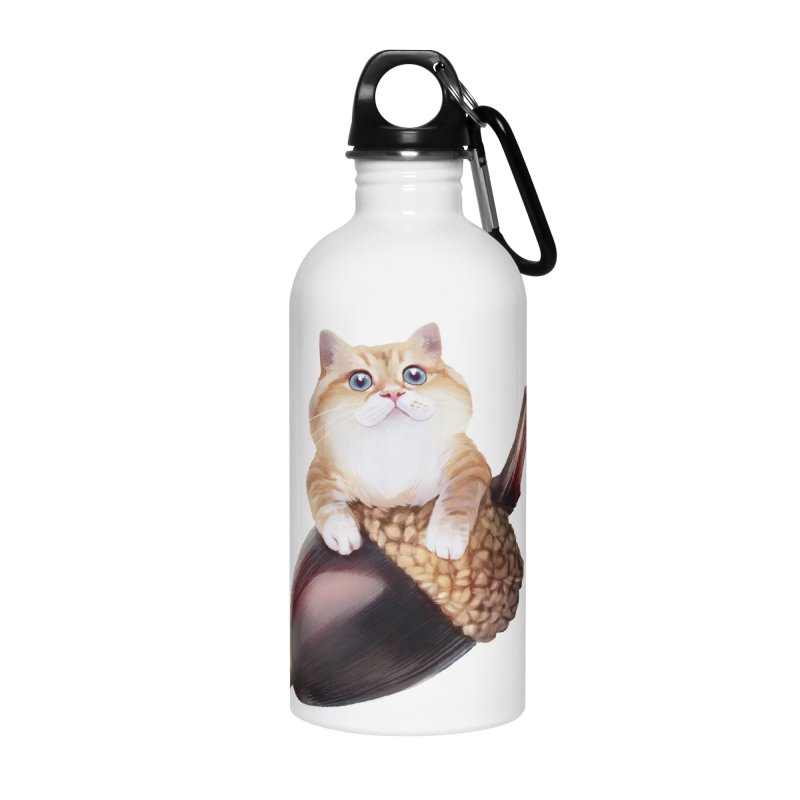 Hosico and acorn Accessories Water Bottle by Hosico's Shop
