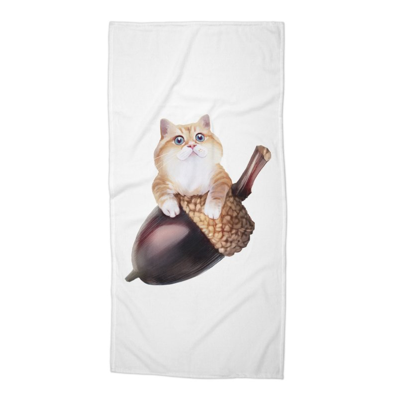 Hosico and acorn Accessories Beach Towel by Hosico's Shop