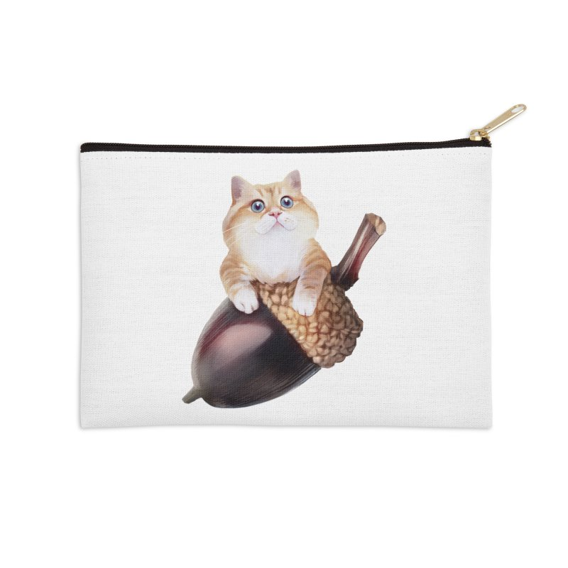 Hosico and acorn Accessories Zip Pouch by Hosico's Shop