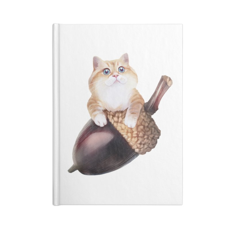 Hosico and acorn Accessories Blank Journal Notebook by Hosico's Shop