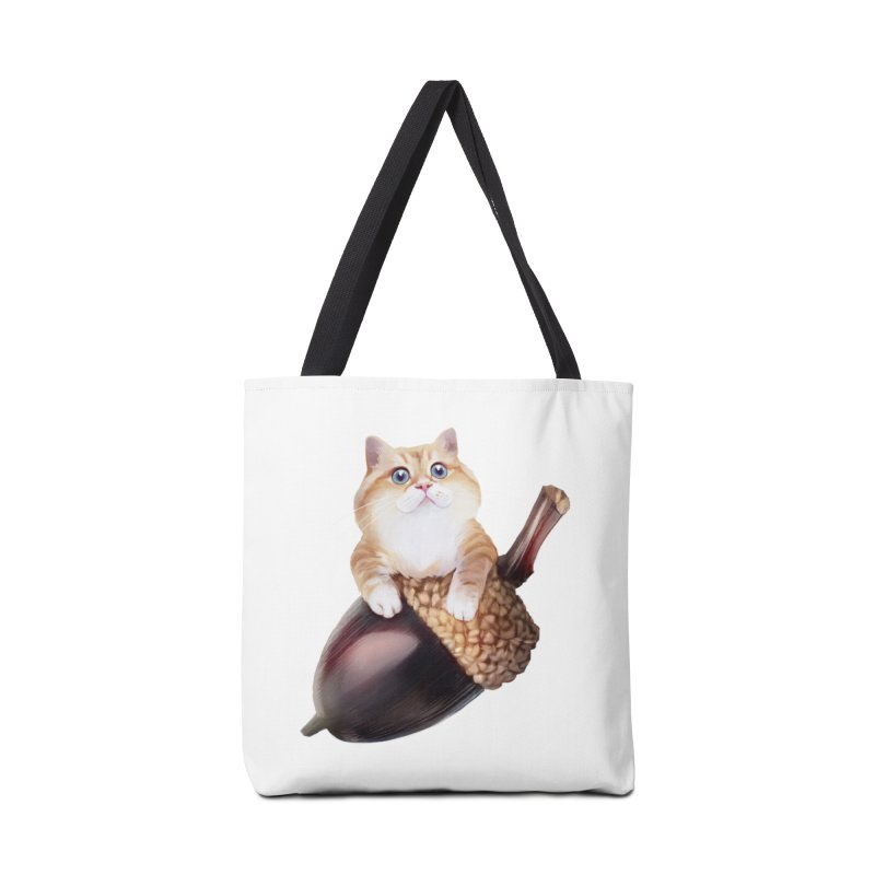 Hosico and acorn Accessories Tote Bag Bag by Hosico's Shop
