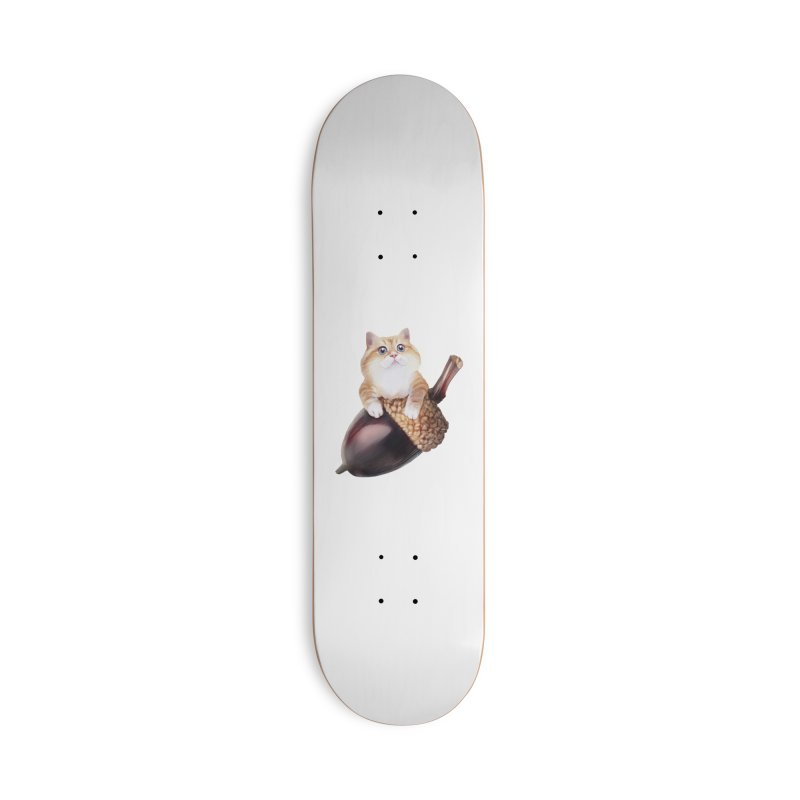 Hosico and acorn Accessories Skateboard by Hosico's Shop