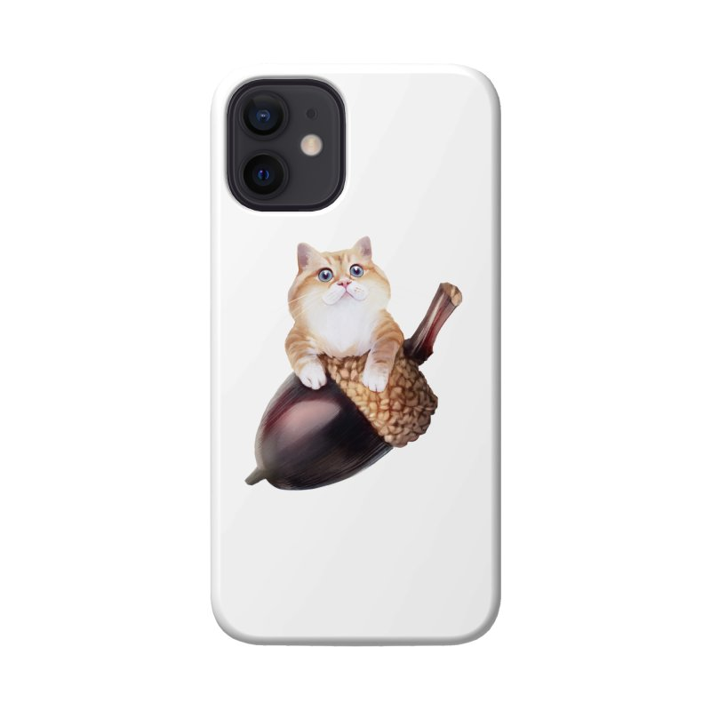 Hosico and acorn Accessories Phone Case by Hosico's Shop