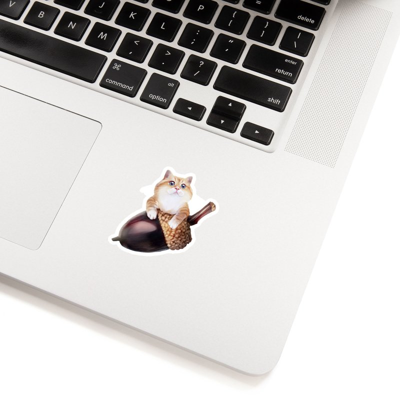 Hosico and acorn Accessories Sticker by Hosico's Shop