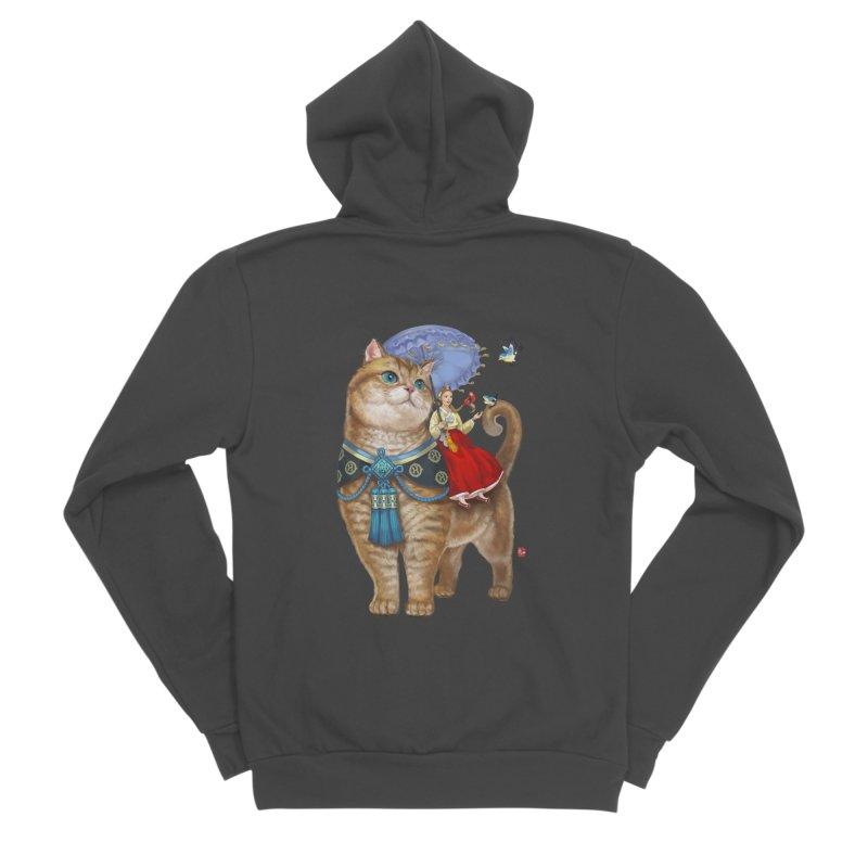 Hosico Hanbok Men's Sponge Fleece Zip-Up Hoody by Hosico's Shop