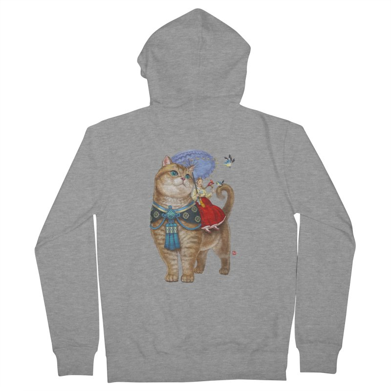 Hosico Hanbok Men's French Terry Zip-Up Hoody by Hosico's Shop
