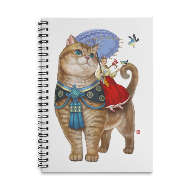 Hosico Hanbok Accessories Lined Spiral Notebook by Hosico's Shop