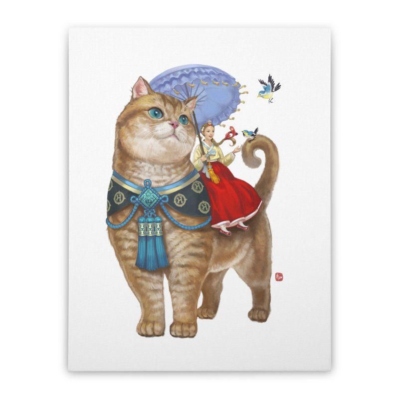 Hosico Hanbok Home Stretched Canvas by Hosico's Shop