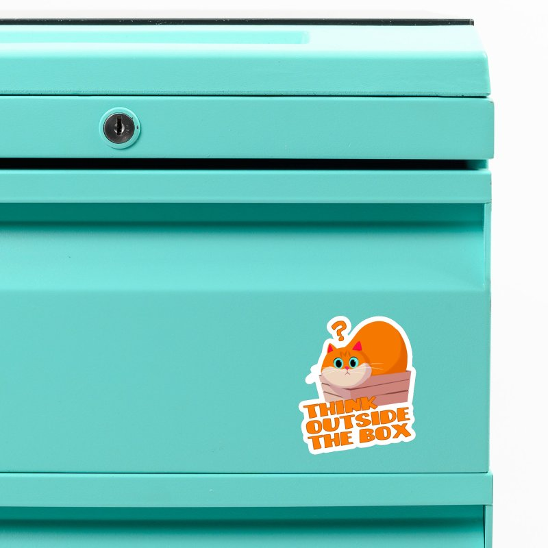 Think outside the Box? Accessories Magnet by Hosico's Shop