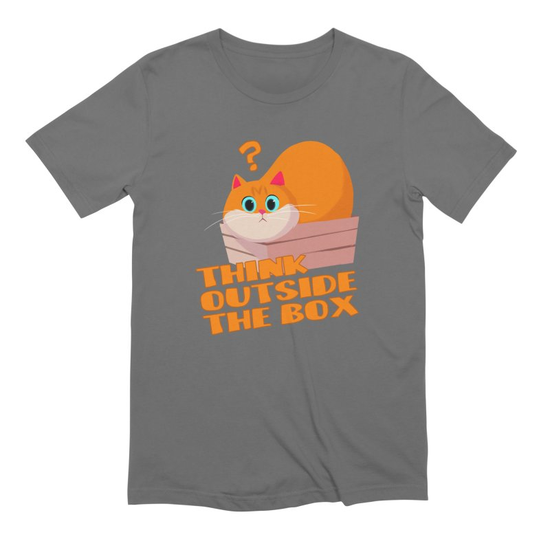 Think outside the Box? Men's Extra Soft T-Shirt by Hosico's Shop