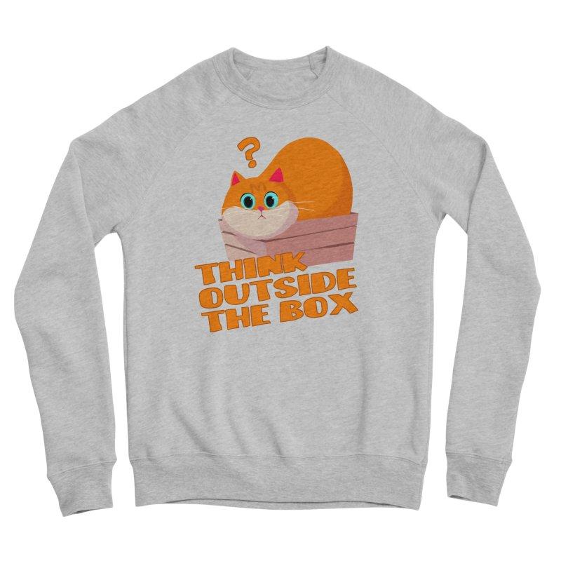 Think outside the Box? Men's Sponge Fleece Sweatshirt by Hosico's Shop