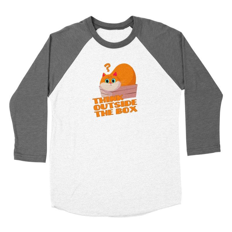 Think outside the Box? Men's Baseball Triblend Longsleeve T-Shirt by Hosico's Shop