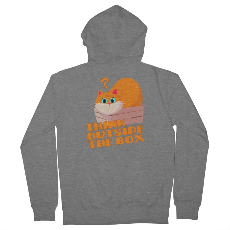 Think outside the Box? Men's French Terry Zip-Up Hoody by Hosico's Shop