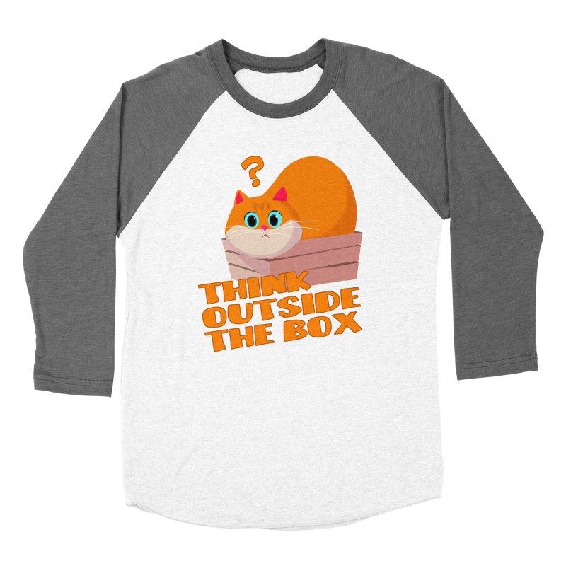 Think outside the Box? Women's Baseball Triblend Longsleeve T-Shirt by Hosico's Shop