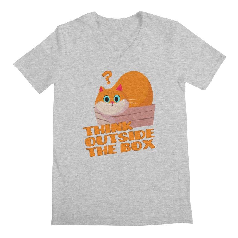 Think outside the Box? Men's Regular V-Neck by Hosico's Shop