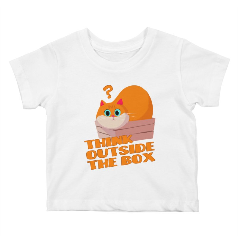 Think outside the Box? Kids Baby T-Shirt by Hosico's Shop