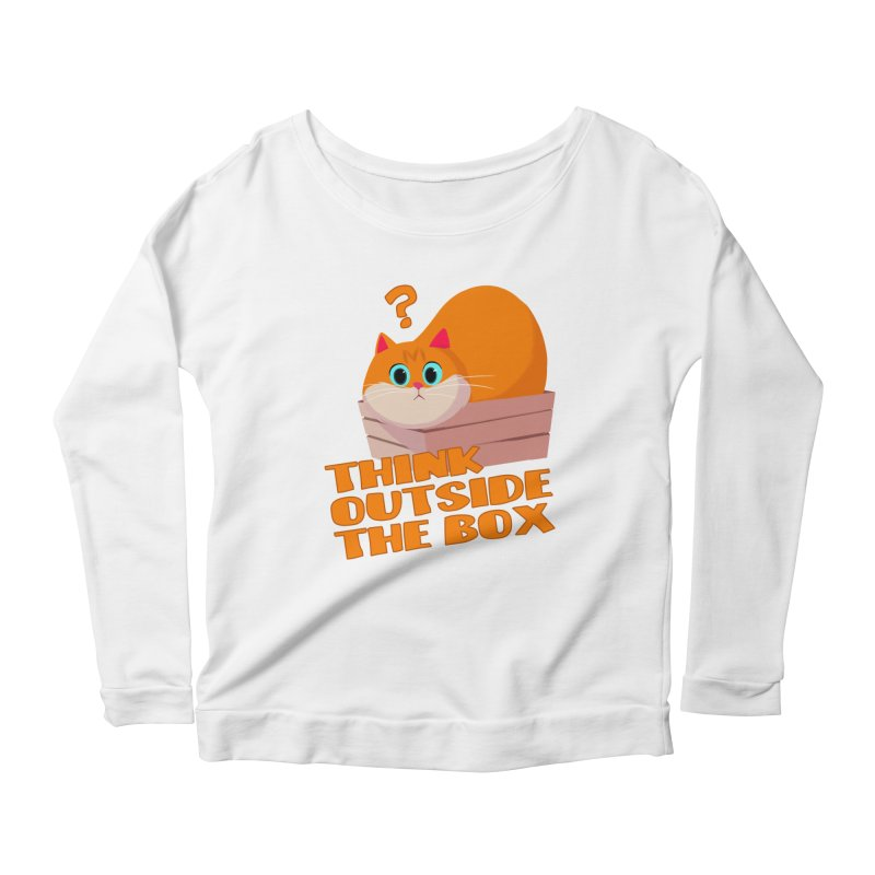 Think outside the Box? Women's Scoop Neck Longsleeve T-Shirt by Hosico's Shop