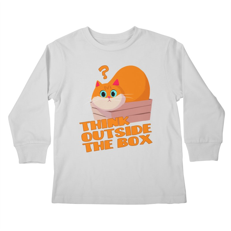 Think outside the Box? Kids Longsleeve T-Shirt by Hosico's Shop