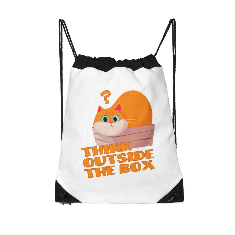 Think outside the Box? Accessories Drawstring Bag Bag by Hosico's Shop