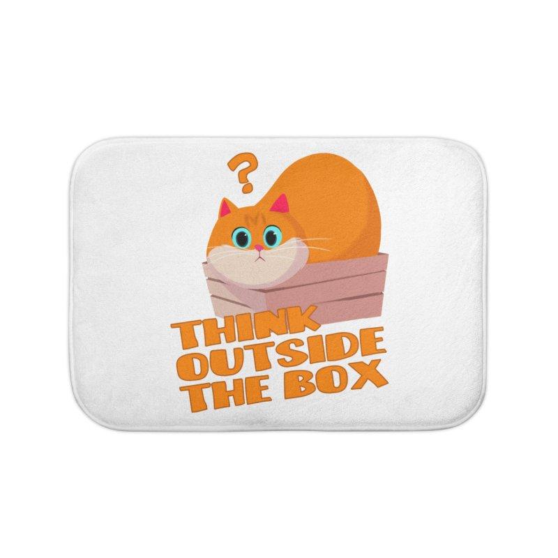 Think outside the Box? Home Bath Mat by Hosico's Shop