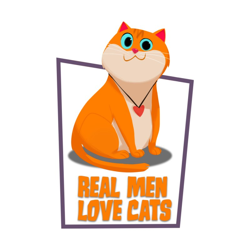 Real Men Love Cats Accessories Sticker by Hosico's Shop