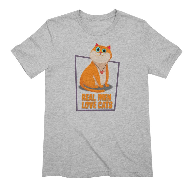 Real Men Love Cats Men's Extra Soft T-Shirt by Hosico's Shop