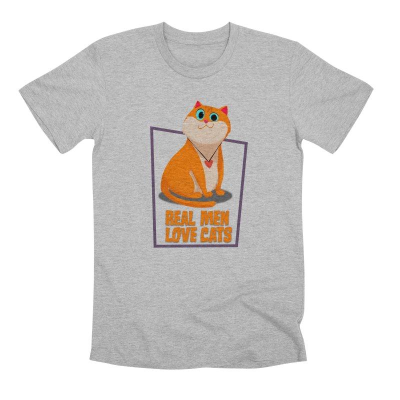 Real Men Love Cats Men's Premium T-Shirt by Hosico's Shop