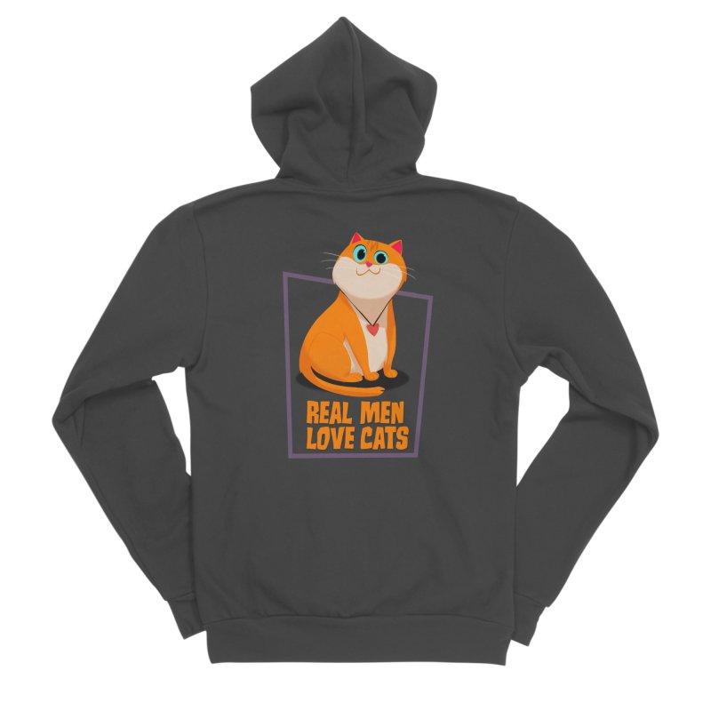 Real Men Love Cats Women's Sponge Fleece Zip-Up Hoody by Hosico's Shop