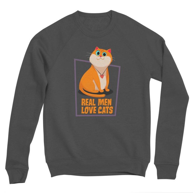 Real Men Love Cats Men's Sponge Fleece Sweatshirt by Hosico's Shop