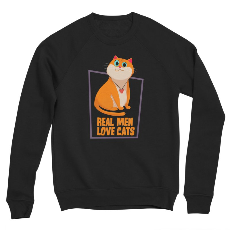 Real Men Love Cats Women's Sponge Fleece Sweatshirt by Hosico's Shop