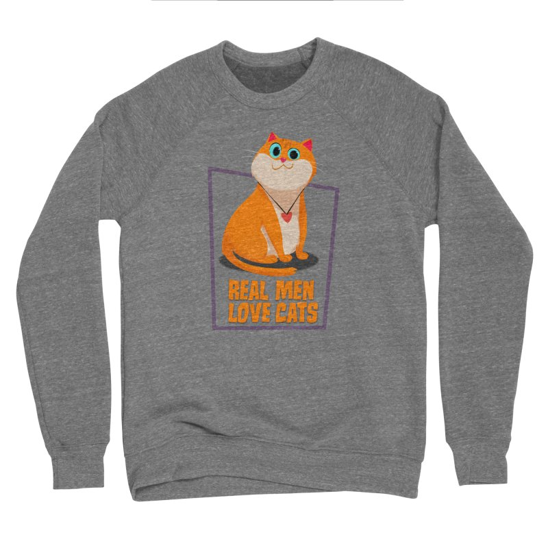Real Men Love Cats Women's Sponge Fleece Sweatshirt by Hosico's Shop