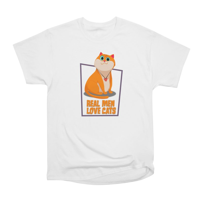 Real Men Love Cats Women's T-Shirt by Hosico's Shop