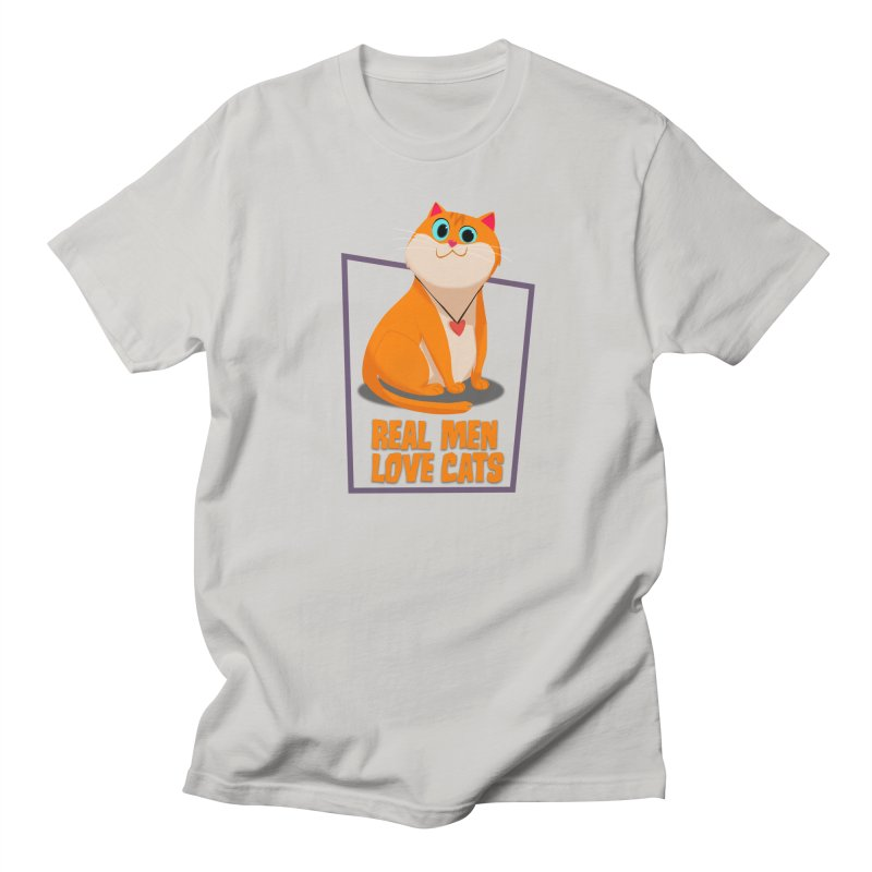 Real Men Love Cats Men's Regular T-Shirt by Hosico's Shop