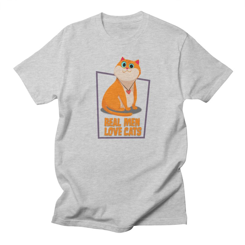 Real Men Love Cats Women's Regular Unisex T-Shirt by Hosico's Shop