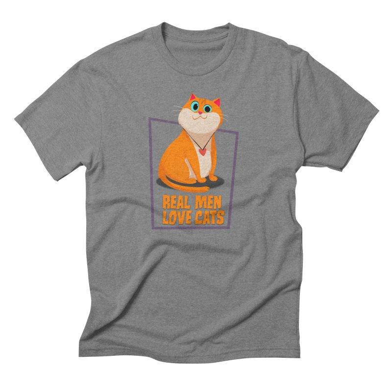 Real Men Love Cats Men's T-Shirt by Hosico's Shop