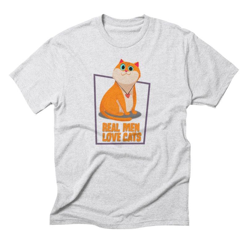 Real Men Love Cats Men's Triblend T-Shirt by Hosico's Shop