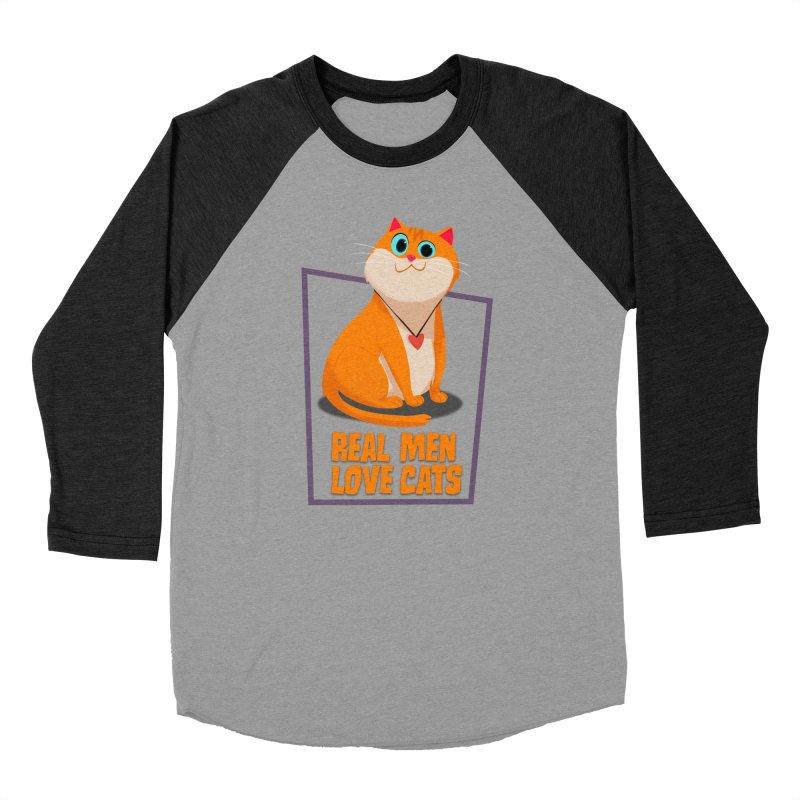 Real Men Love Cats Men's Longsleeve T-Shirt by Hosico's Shop